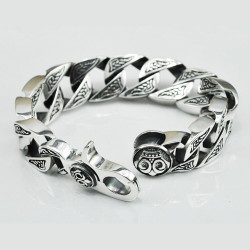 Men's Sterling Silver Bold Curb Chain Bracelet
