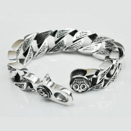 Men's Sterling Silver Bold Curb Chain Bracelet