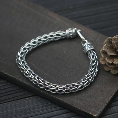 fc9e9a6fd2d9 Men s Sterling Silver Rope Chain Bracelet - Jewelry1000.com