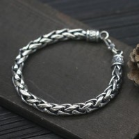 Men's Sterling Silver Bold Rope Chain Bracelet