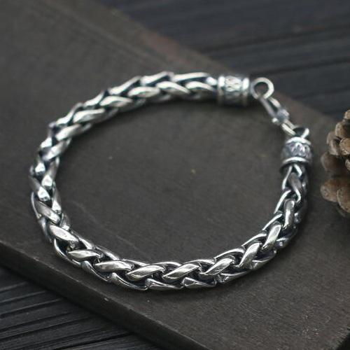 Men S Sterling Silver Bold Rope Chain Bracelet