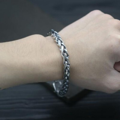 Men's Sterling Silver Bold Rope Chain Bracelet