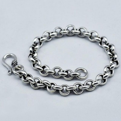 Men's Sterling Silver Rolo Chain Bracelet