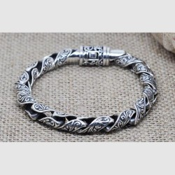 Men's Sterling Silver Ivy Bracelet