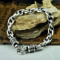 Men's Sterling Silver Rope Bracelet