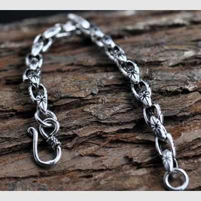 Men's Sterling Silver Link Chain Bracelet