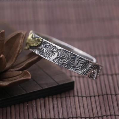 Men's Sterling Silver Eagle Cuff Bracelet