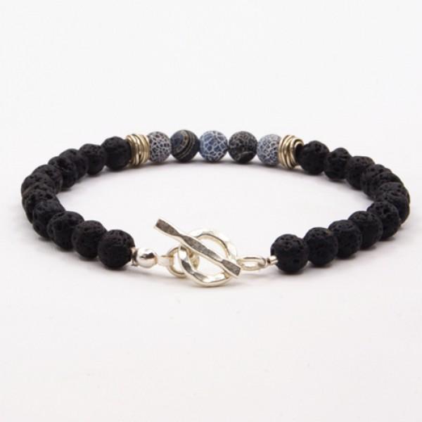 Men S Lava Stone Beaded Bracelet