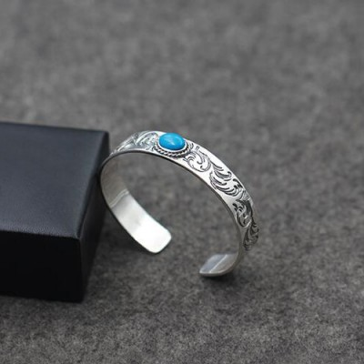 Men S Sterling Silver Turquoise Ivy