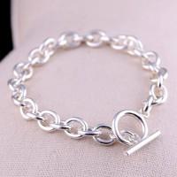 Men's Sterling Silver Oval Link Chain Bracelet