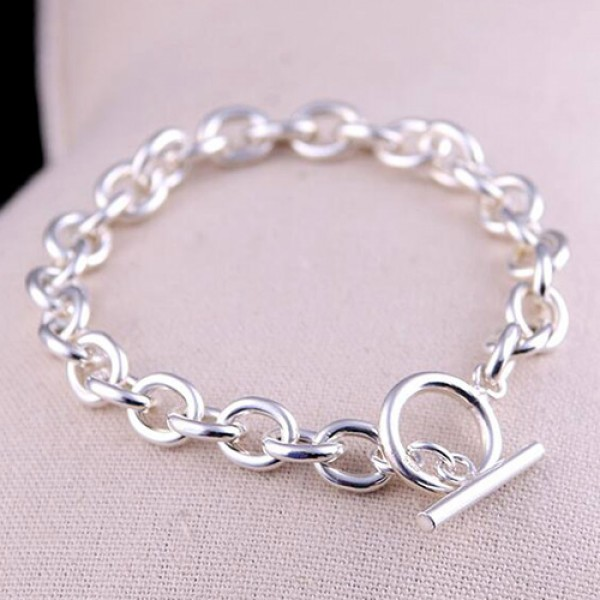 Men S Sterling Silver Oval Link Chain