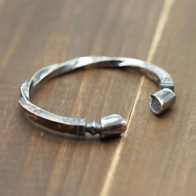 Men's Sterling Silver Horse Hoof Cuff Bracelet