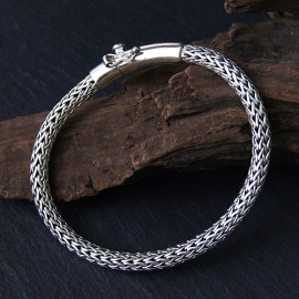 Men's Sterling Silver Braided Bracelet