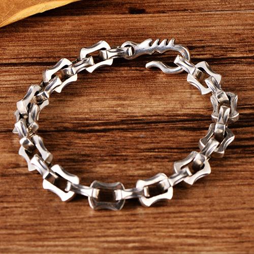 Men's Sterling Silver Chunky Link Chain Bracelet