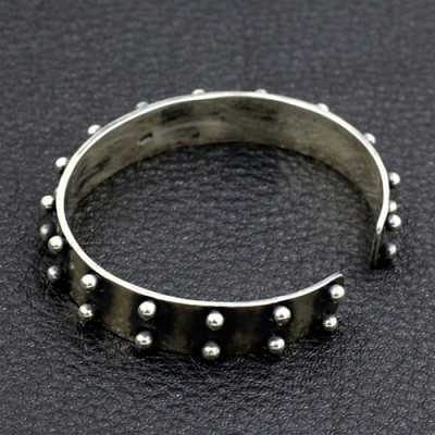 Men's Sterling Silver Rivet Cuff Bracelet