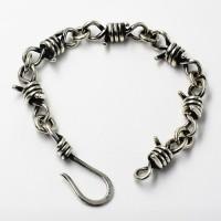 Men's Sterling Silver Thorns Chain Bracelet