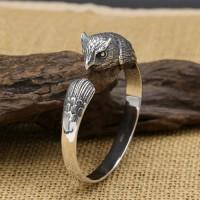 Men's Sterling Silver Owl Cuff Bracelet