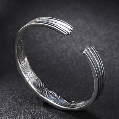 Men's Sterling Silver All-Seeing Eye Cuff Bracelet