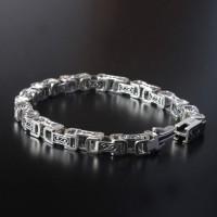 Men's Sterling Silver Square links Bracelet