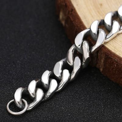 Men's Sterling Silver Cuban Chain Bracelet
