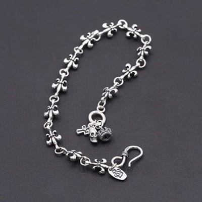Sterling Silver Fleur de lis Bracelet