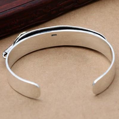 Sterling Silver Feather Cuff Bracelet