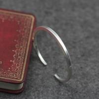 Sterling Silver Plain Cuff Bracelet
