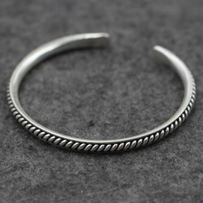 Sterling Silver Spiral Pattern Cuff Bracelet