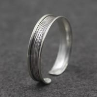 Sterling Silver Stripe Cuff Bracelet