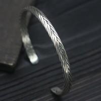 Sterling Silver Sleek Braided Cuff Bracelet