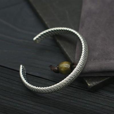 Sterling Silver Tire Pattern Cuff Bracelet