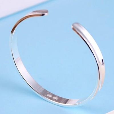 Fine Silver Plain Cuff Bracelet