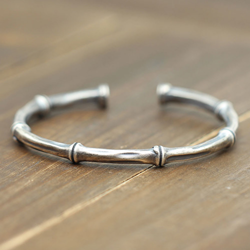 Sterling Silver Bamboo Cuff Bracelet