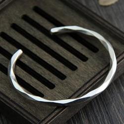 Fine Silver Cutting Cuff Bracelet