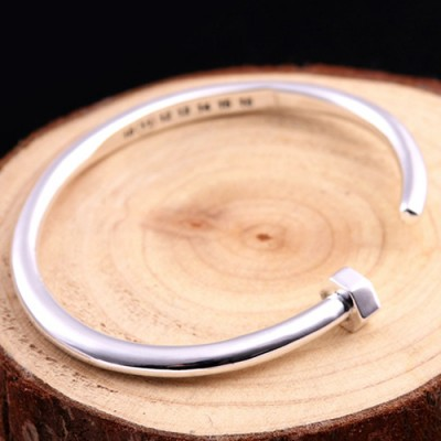 Sterling Silver Nail Cuff Bracelet