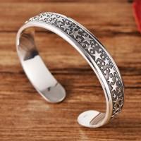 Fine Silver Stars Cuff Bracelet