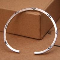 Sterling Silver Slim Minimalist Cuff Bracelet