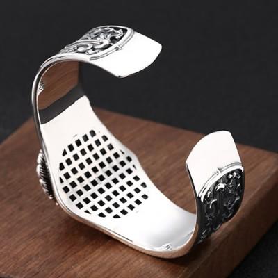 Sterling Silver Cat Cuff Bracelet