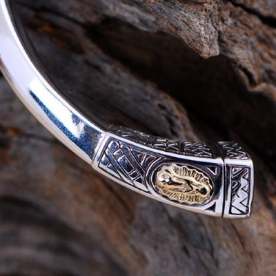 Women's Sterling Silver Virgin Mary Bracelet