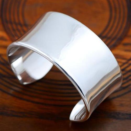 Women s Fine Silver Wide Cuff Bracelet - Jewelry1000.com 989bebdeaa