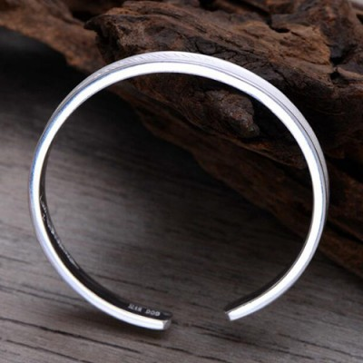 Women's Fine Silver Feather Cuff Bracelet