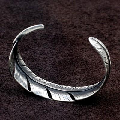 Women's Sterling Silver Feather Cuff Bracelet