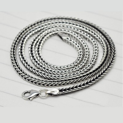 "2.8 mm Sterling Silver Wheat Chain for Men 18""-24"""