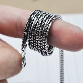 """2.8 mm Sterling Silver Wheat Chain for Men 18""""-24"""""""