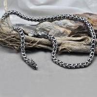"4-8 mm Sterling Silver Dragon Chain for Men 18""-24"""