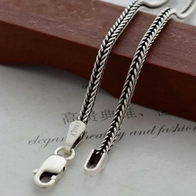 "1.6 mm Men's Sterling Silver Wheat Chain 18""-30"""