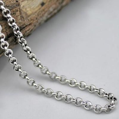"3.5-5.5 mm Men's Sterling Silver Rolo Chain 18""-30"""