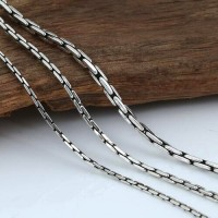 "1.5-3 mm Men's Sterling Silver Coreanna Chain 18""-24"""