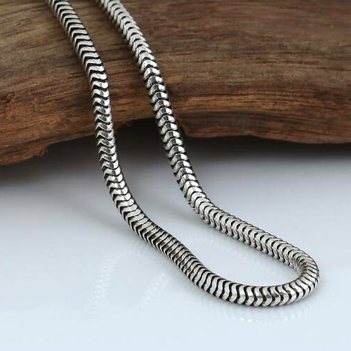 "3 mm Men's Sterling Silver Snake Chain 18""-28"""