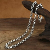 "6 mm Men's Sterling Silver Rolo Chain 20""-28"""